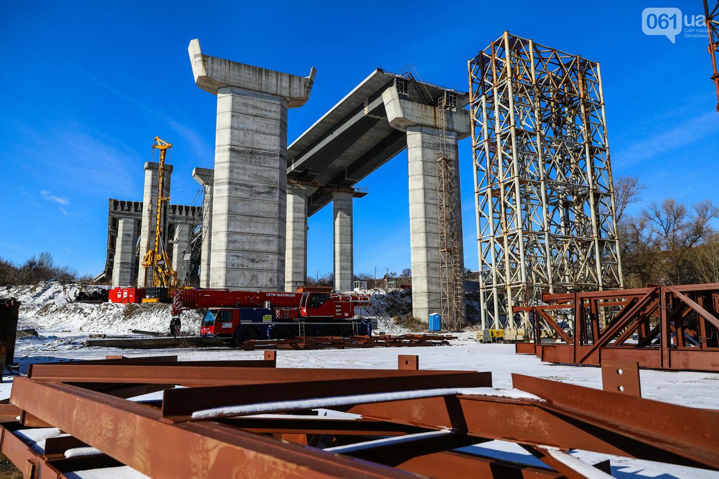 Кран с иностранной пропиской, ванты и металл: строительство запорожских мостов в фотографиях, фото-47
