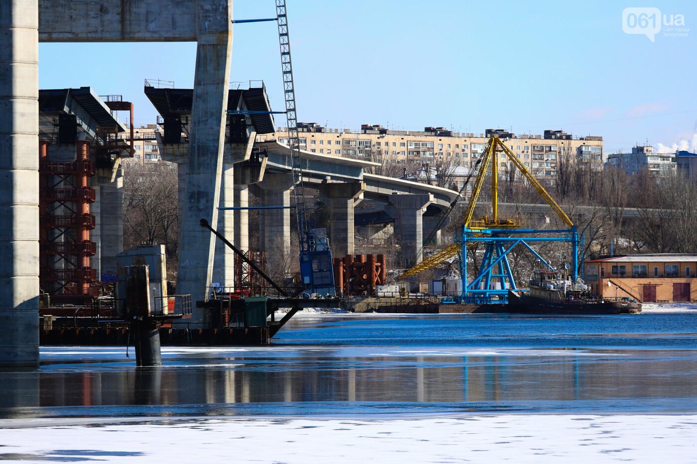 Кран с иностранной пропиской, ванты и металл: строительство запорожских мостов в фотографиях, фото-49