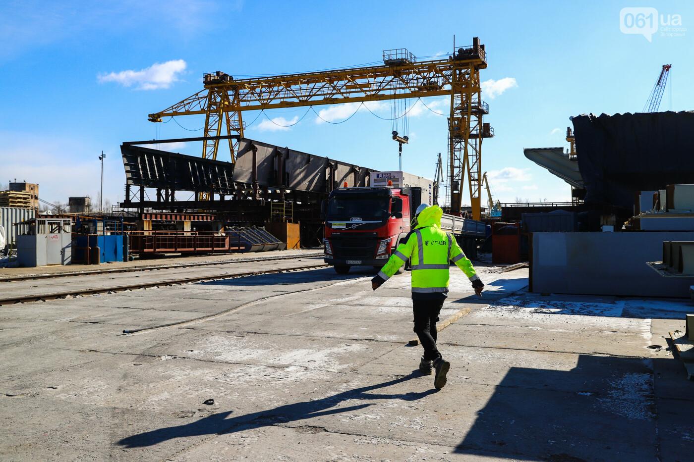 Кран с иностранной пропиской, ванты и металл: строительство запорожских мостов в фотографиях, фото-7