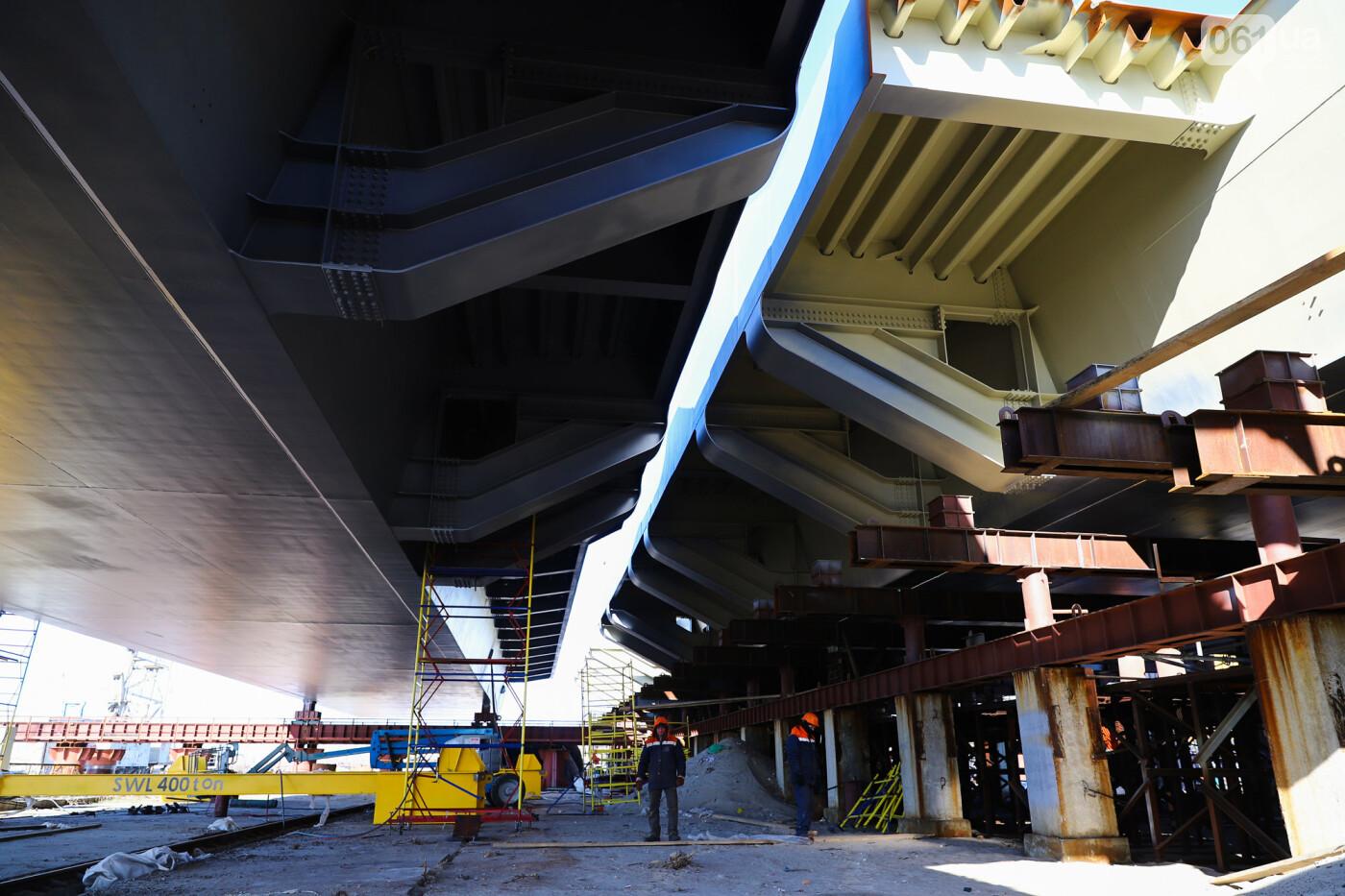 Кран с иностранной пропиской, ванты и металл: строительство запорожских мостов в фотографиях, фото-11