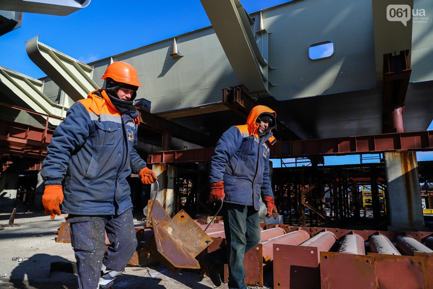 Кран с иностранной пропиской, ванты и металл: строительство запорожских мостов в фотографиях, фото-13