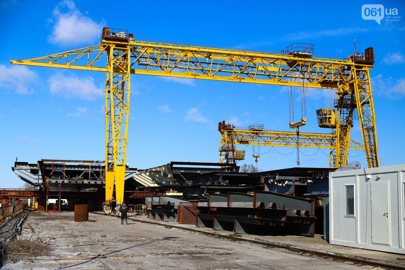 Кран с иностранной пропиской, ванты и металл: строительство запорожских мостов в фотографиях, фото-17