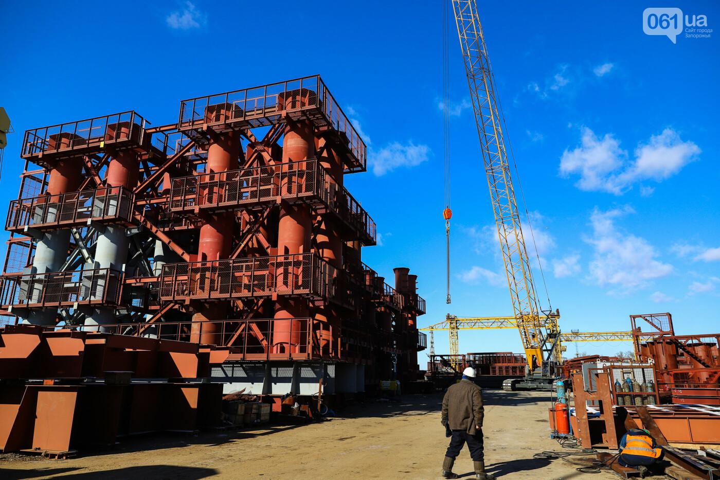 Кран с иностранной пропиской, ванты и металл: строительство запорожских мостов в фотографиях, фото-18