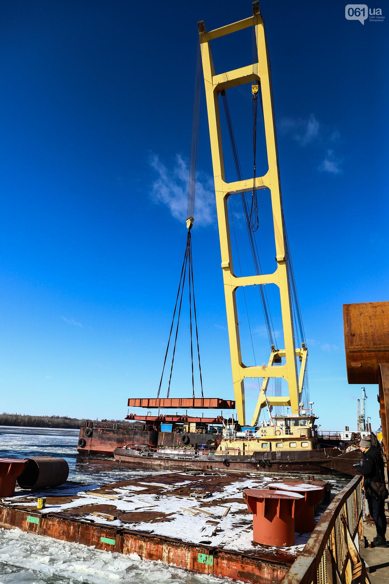 Кран с иностранной пропиской, ванты и металл: строительство запорожских мостов в фотографиях, фото-4