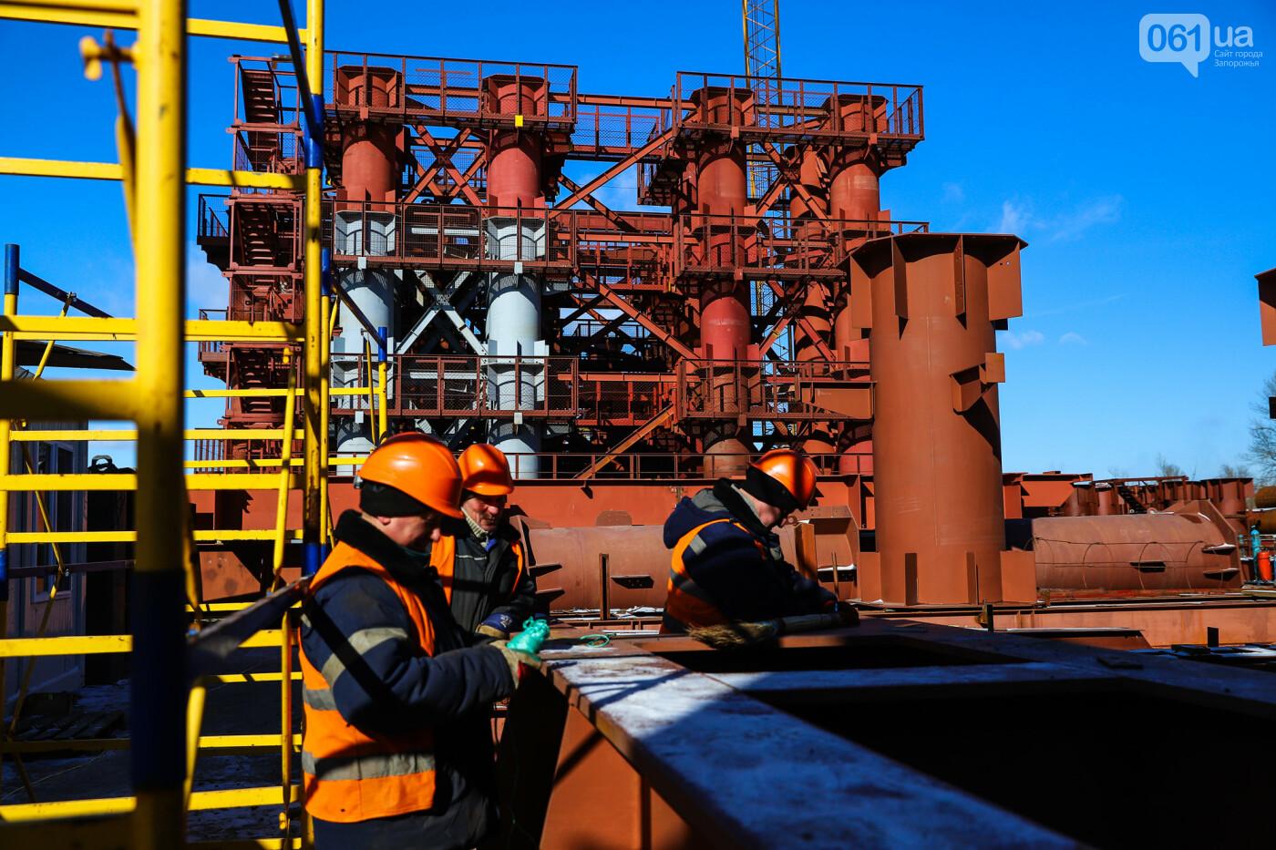 Кран с иностранной пропиской, ванты и металл: строительство запорожских мостов в фотографиях, фото-19
