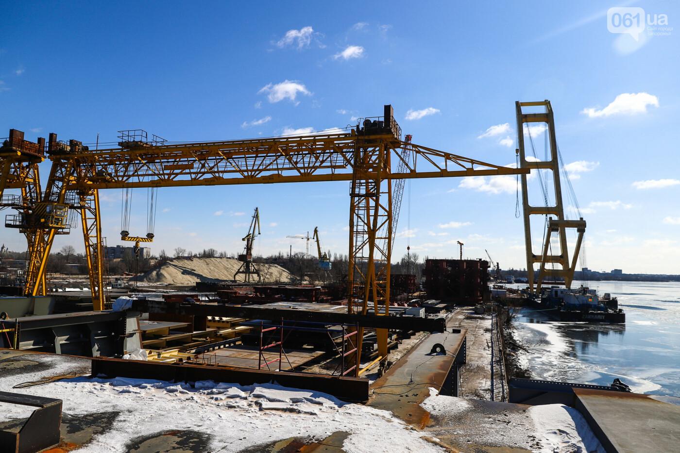 Кран с иностранной пропиской, ванты и металл: строительство запорожских мостов в фотографиях, фото-20