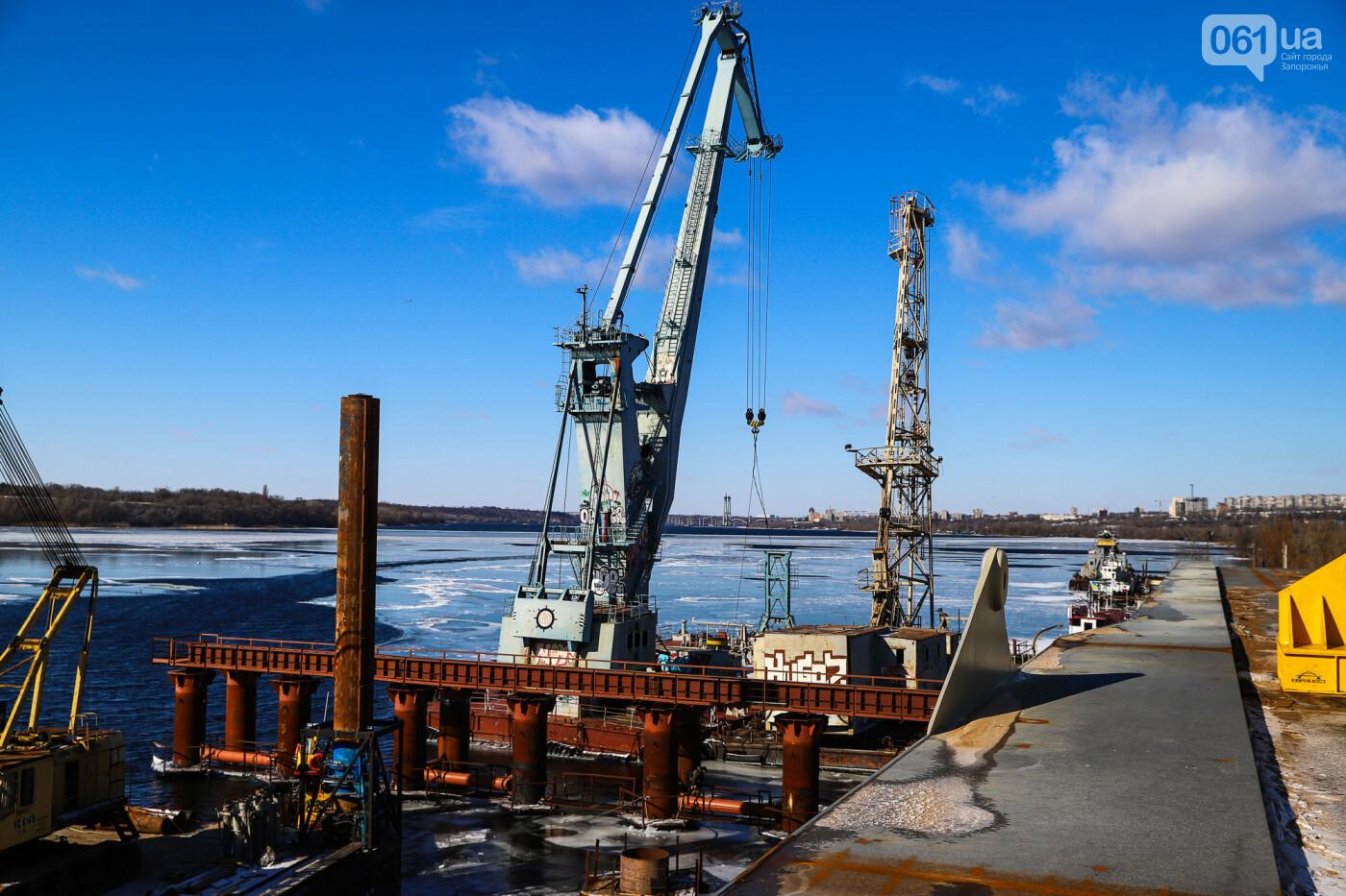 Кран с иностранной пропиской, ванты и металл: строительство запорожских мостов в фотографиях, фото-22
