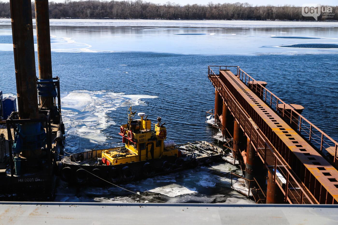 Кран с иностранной пропиской, ванты и металл: строительство запорожских мостов в фотографиях, фото-24