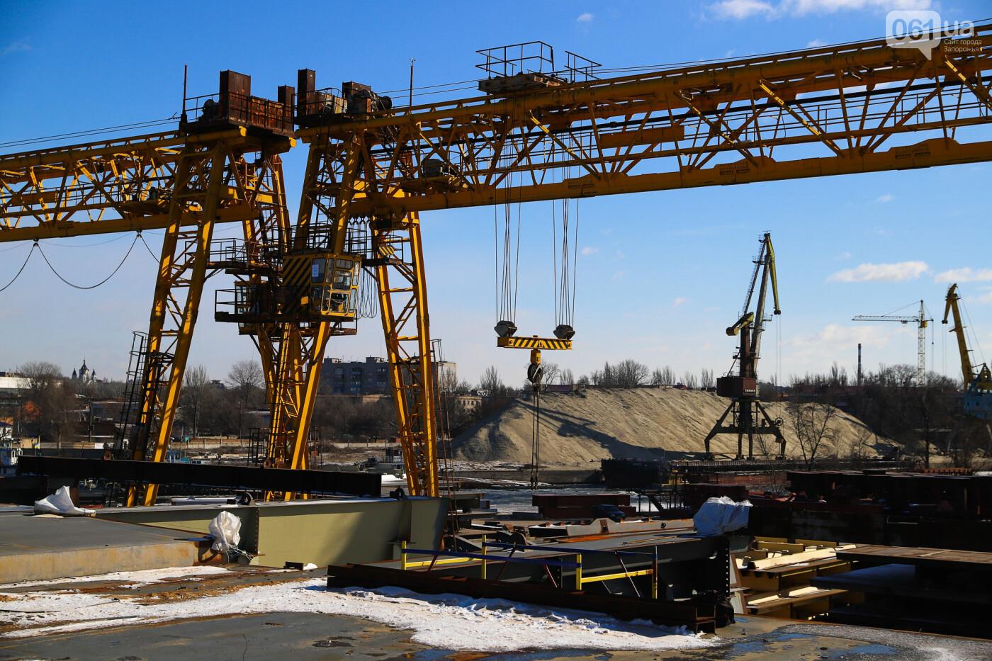 Кран с иностранной пропиской, ванты и металл: строительство запорожских мостов в фотографиях, фото-21
