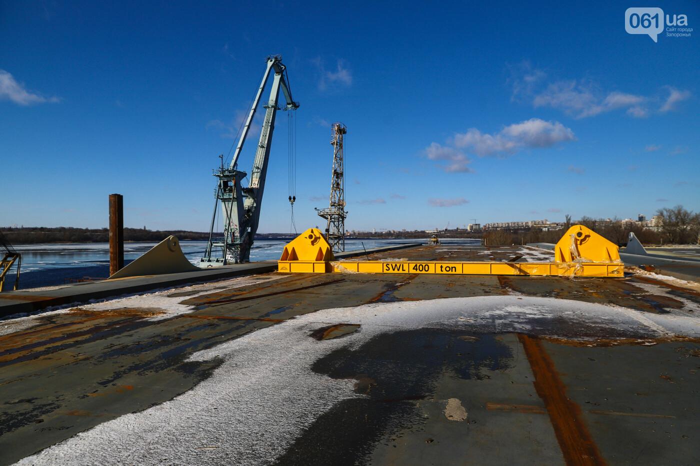 Кран с иностранной пропиской, ванты и металл: строительство запорожских мостов в фотографиях, фото-25