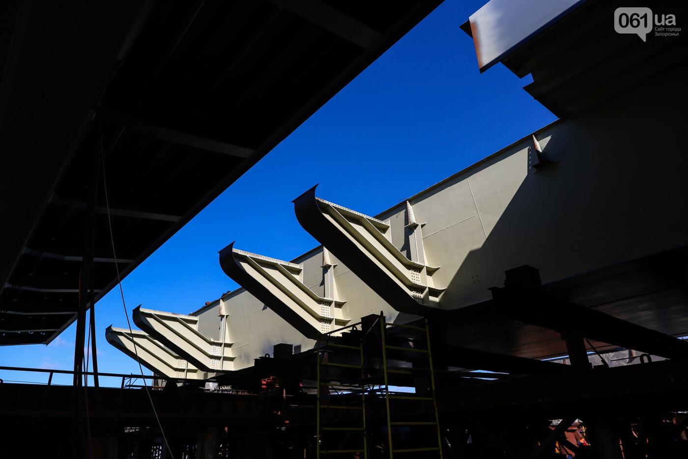 Кран с иностранной пропиской, ванты и металл: строительство запорожских мостов в фотографиях, фото-10