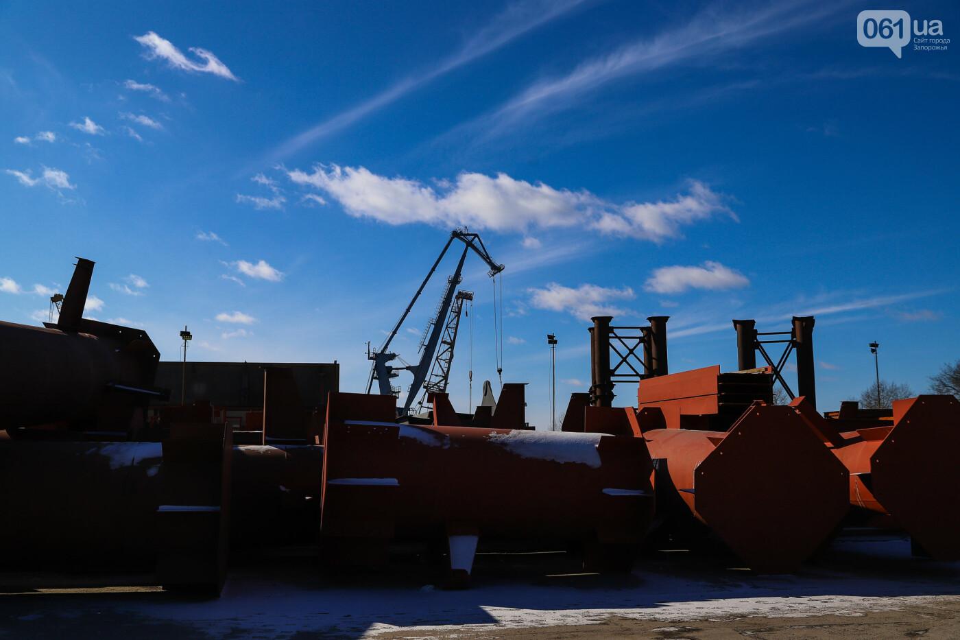 Кран с иностранной пропиской, ванты и металл: строительство запорожских мостов в фотографиях, фото-26