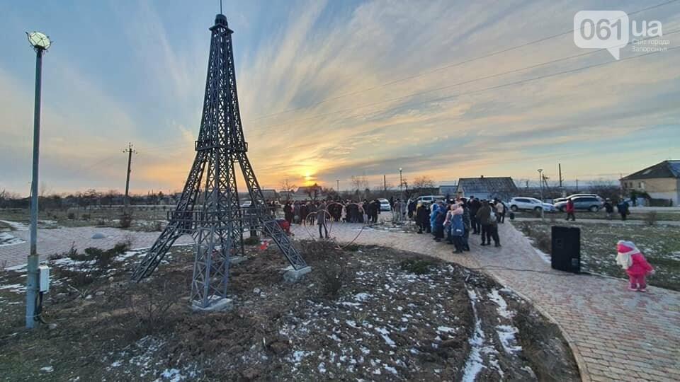 В громаде под Запорожьем установили мини-копию Эйфелевой башни, - ФОТОФАКТ , фото-3