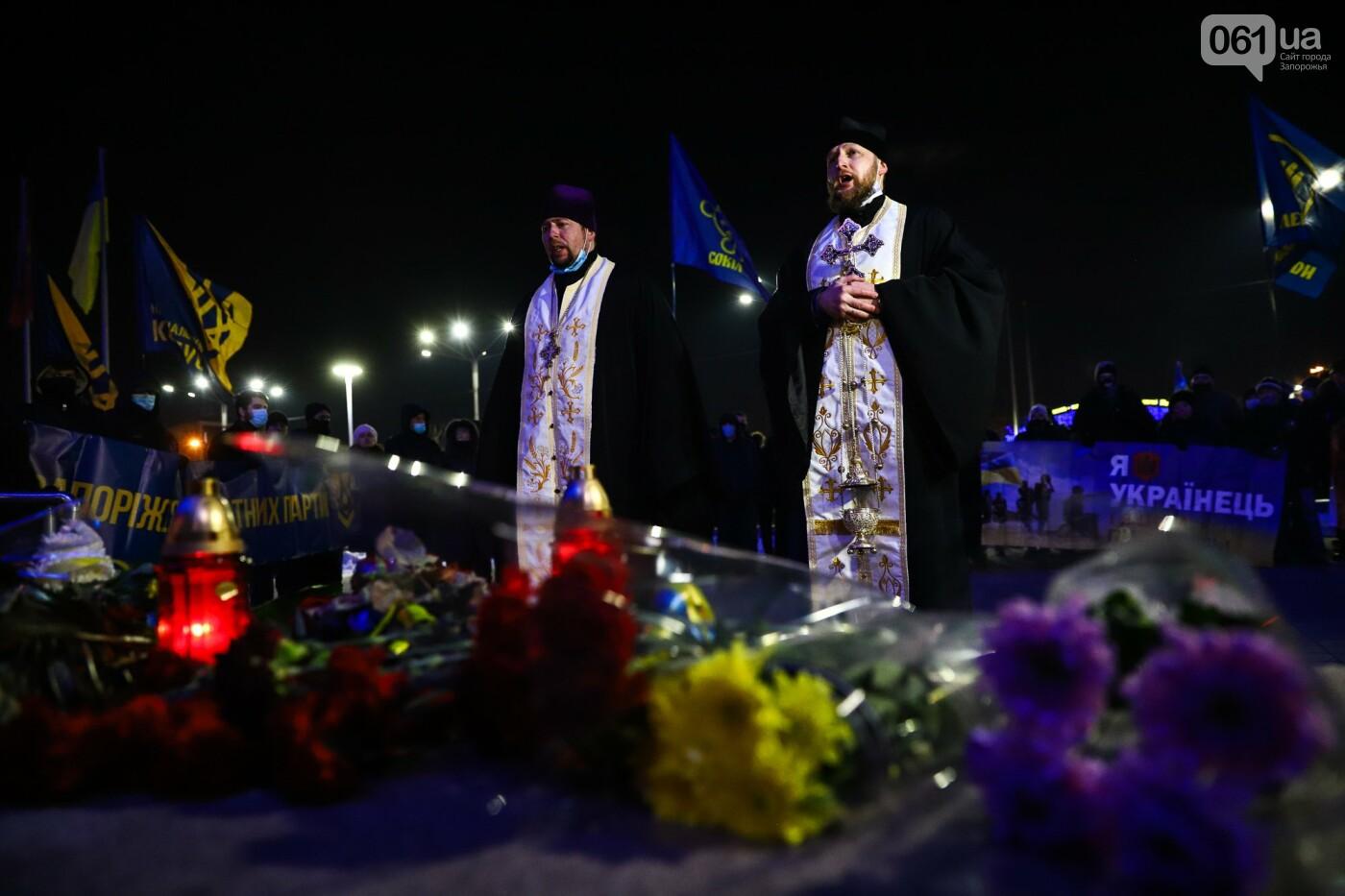 З прапорами та лампадками: у Запоріжжі вшанували Героїв Небесної Сотні, - ФОТОРЕПОРТАЖ , фото-13