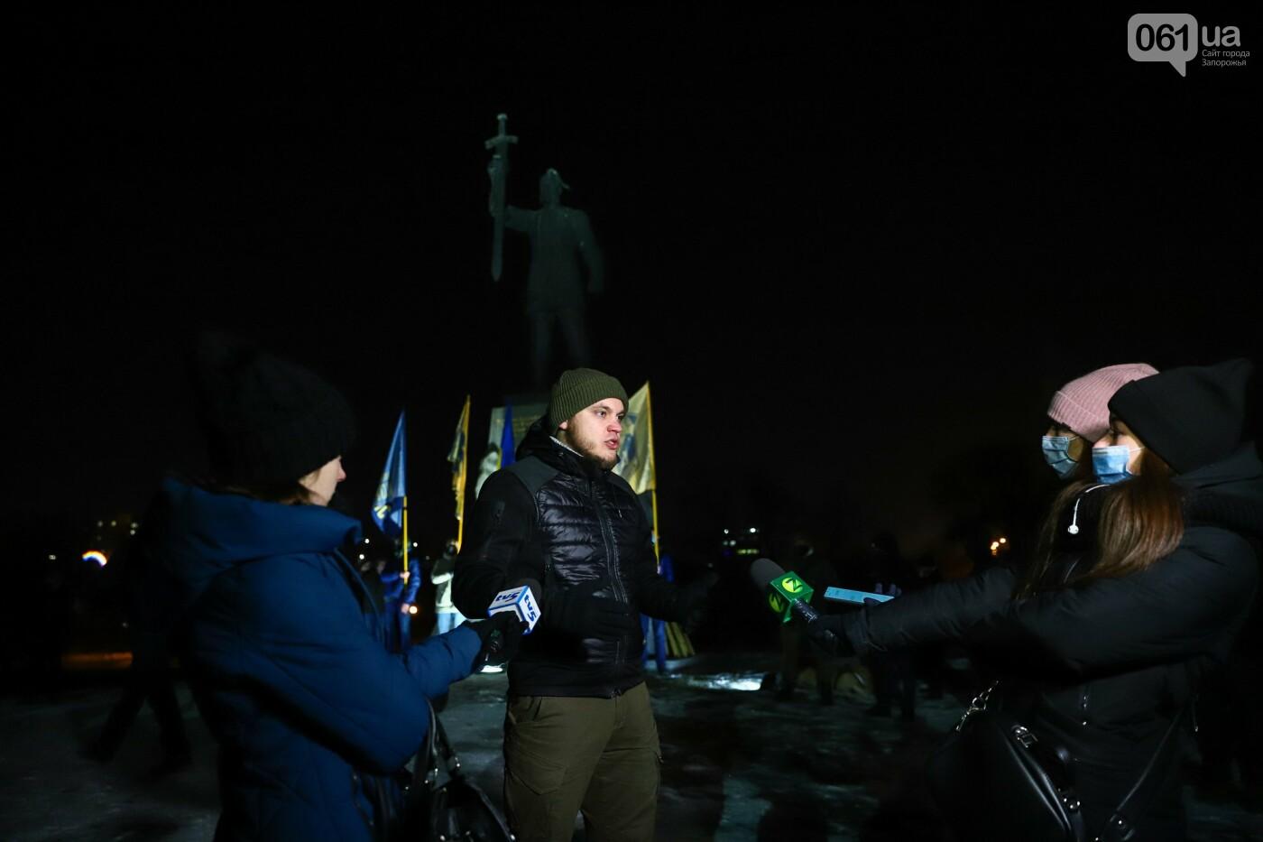 Бои за Широкино: в Запорожье зажгли факела в память о погибших бойцах, - ФОТОРЕПОРТАЖ , фото-2