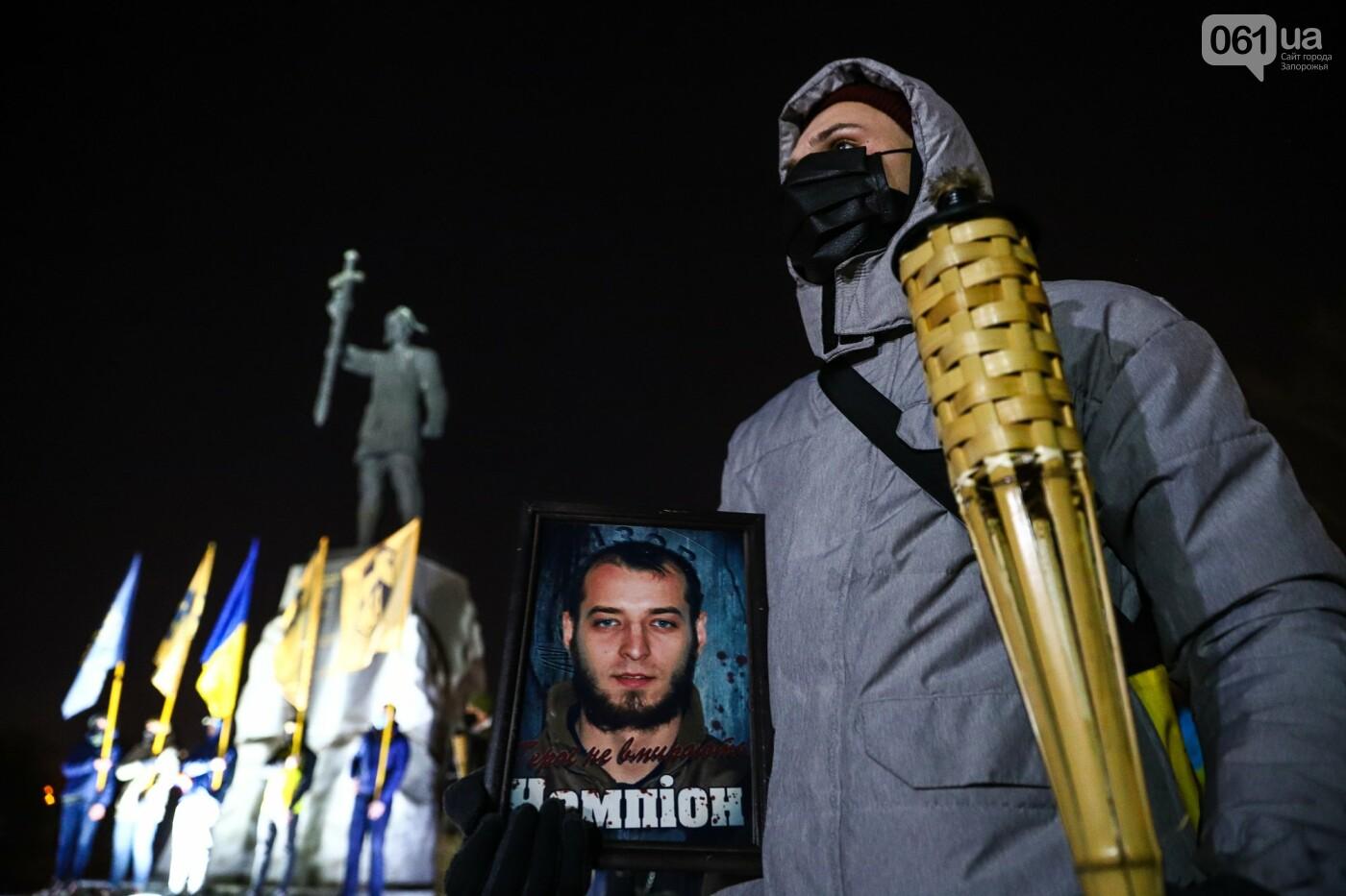 Бои за Широкино: в Запорожье зажгли факела в память о погибших бойцах, - ФОТОРЕПОРТАЖ , фото-3