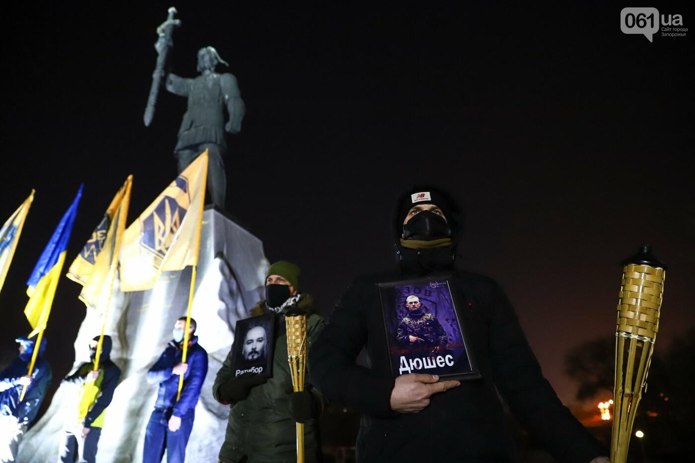 Бои за Широкино: в Запорожье зажгли факела в память о погибших бойцах, - ФОТОРЕПОРТАЖ , фото-4
