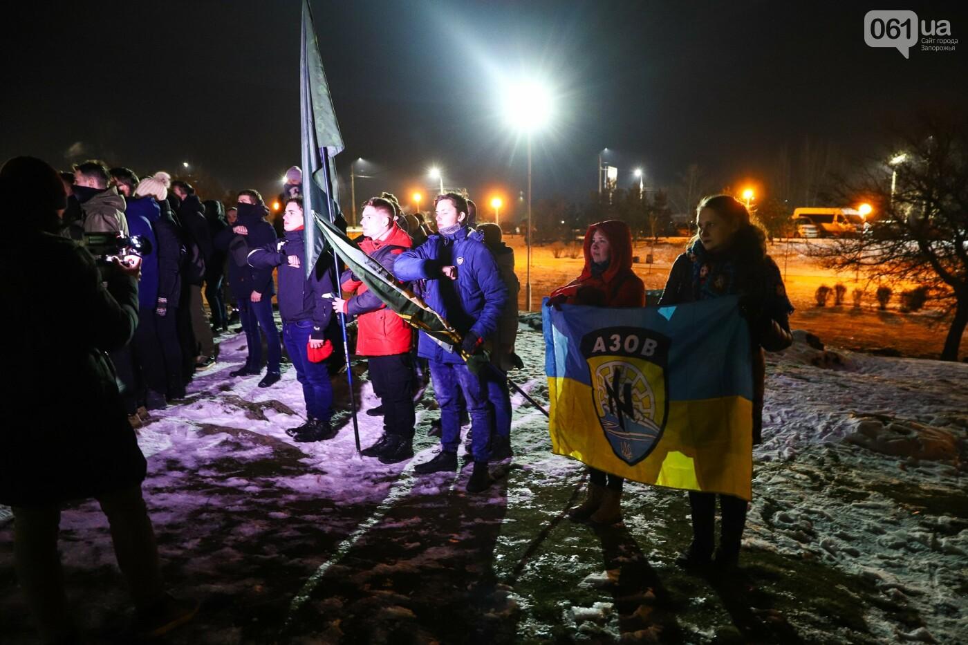 Бои за Широкино: в Запорожье зажгли факела в память о погибших бойцах, - ФОТОРЕПОРТАЖ , фото-6
