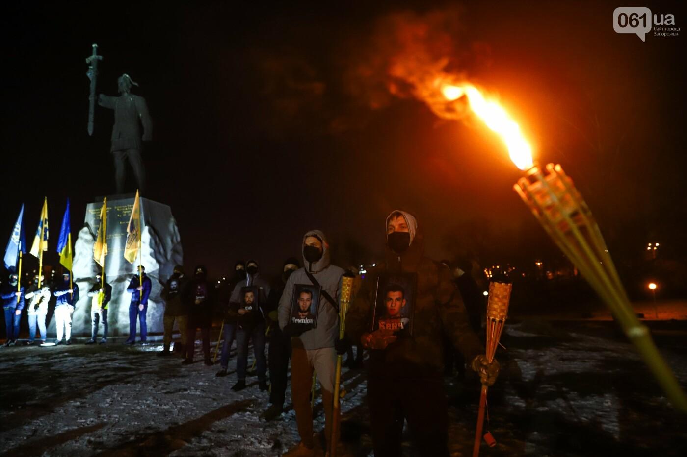Бои за Широкино: в Запорожье зажгли факела в память о погибших бойцах, - ФОТОРЕПОРТАЖ , фото-8