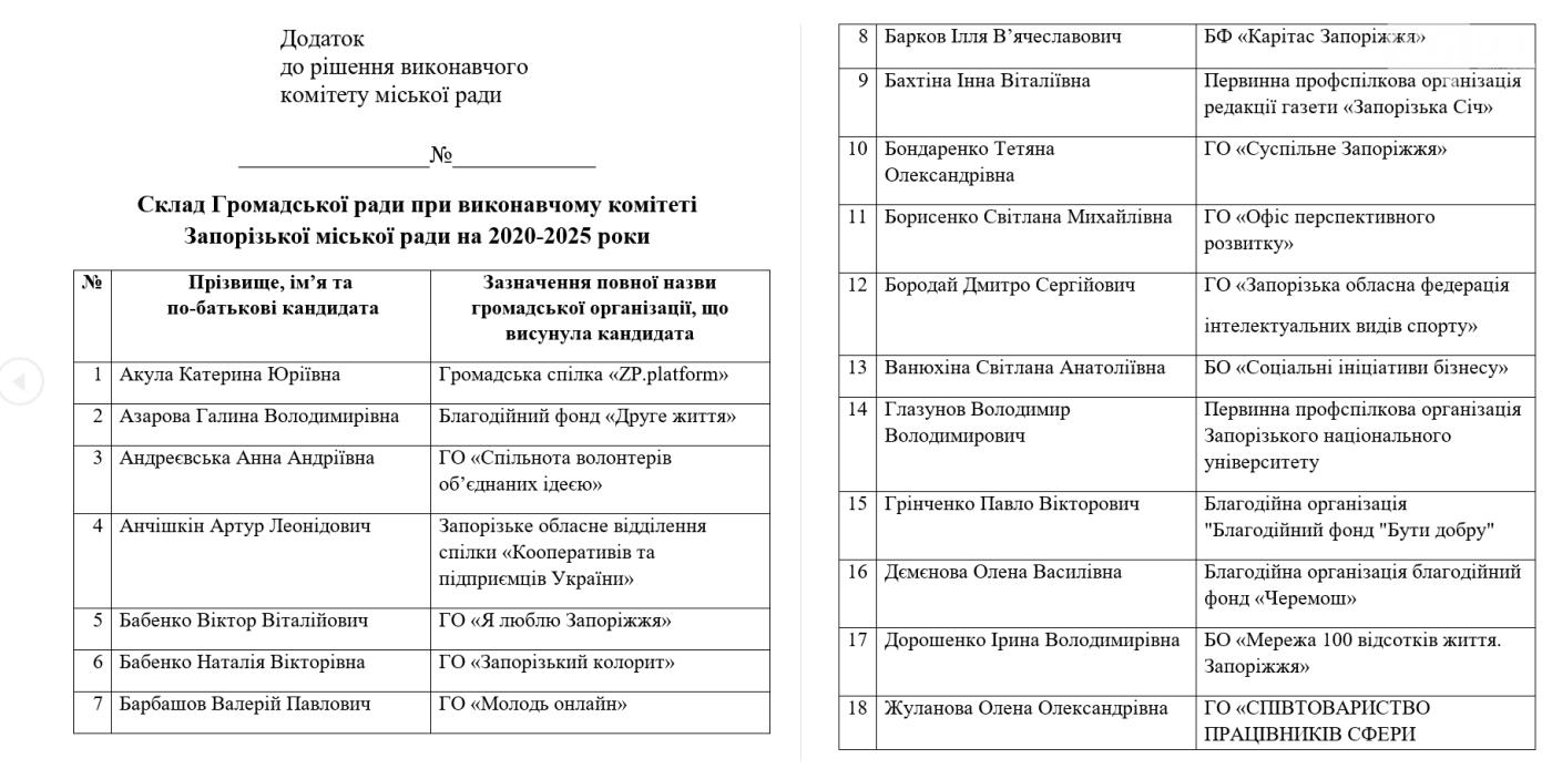 При Запорожском исполкоме сформировали новый состав Общественного совета: кто в него вошел, фото-1
