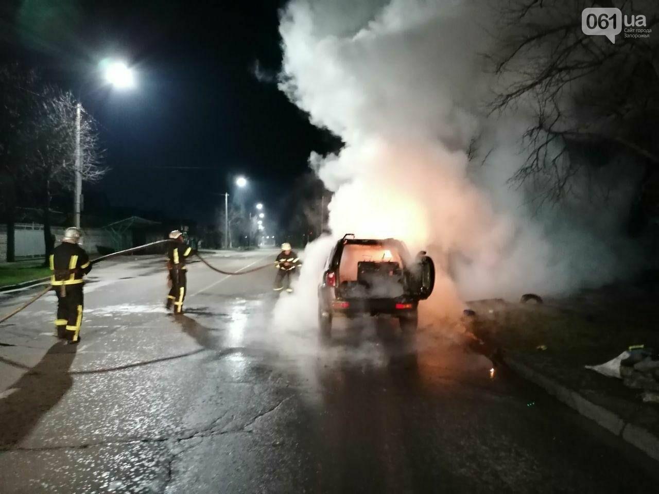"""В Мелитополе на ходу загорелся """"Land Rover"""", - ФОТО, фото-3"""