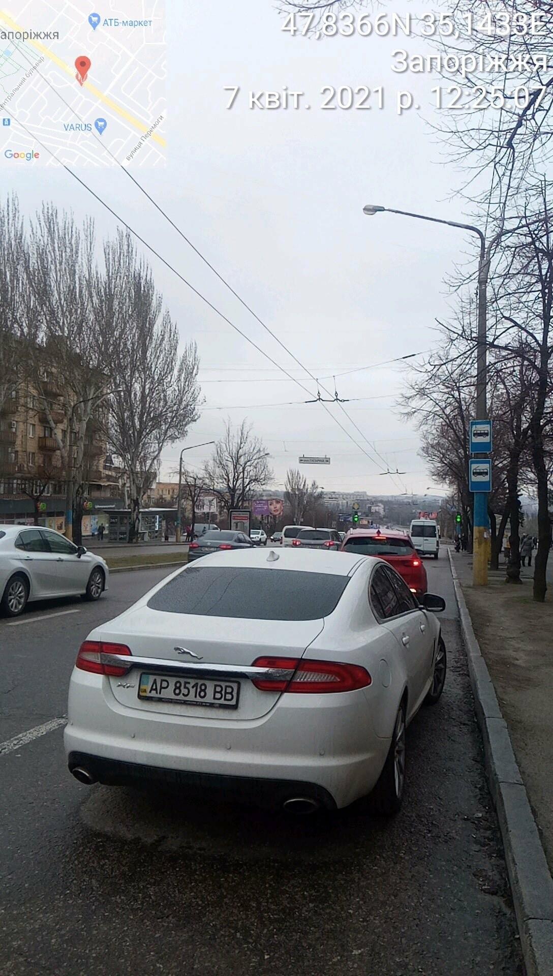 В Запорожье инспекторы по парковке выписали за неделю штрафов на 165 тысяч гривен, фото-1