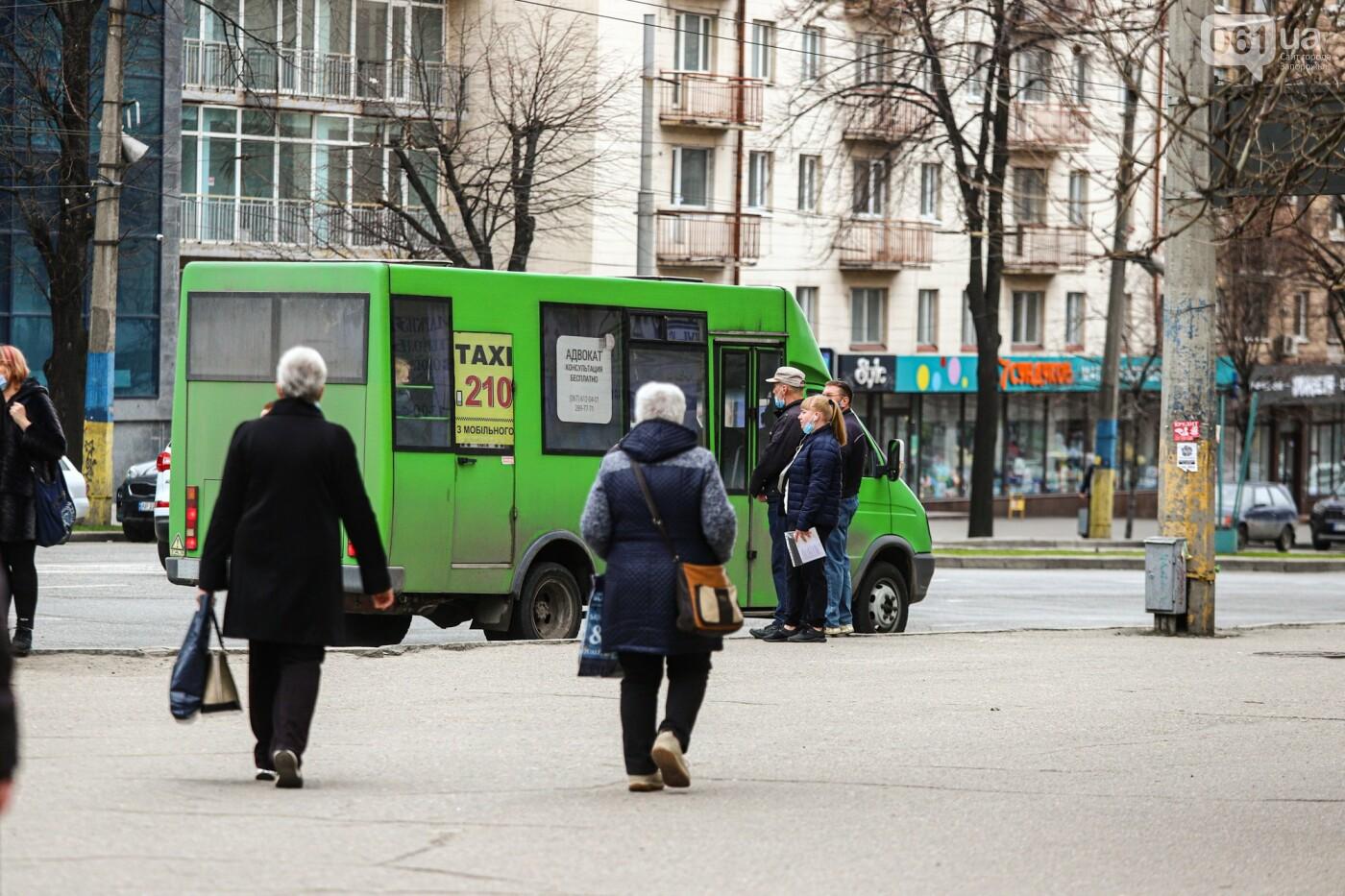 В Запорожье водители маршруток и автобусов игнорируют транспортные ограничения и продолжают возить пассажиров, - ФОТО , фото-12