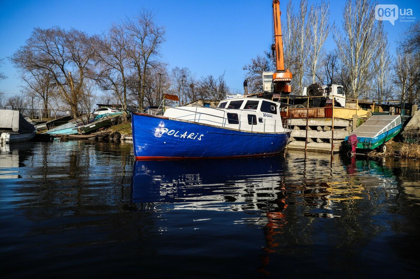 «Семь футов под килем!»: как в запорожском яхт-клубе спускали судна на воду, - ФОТОРЕПОРТАЖ , фото-4
