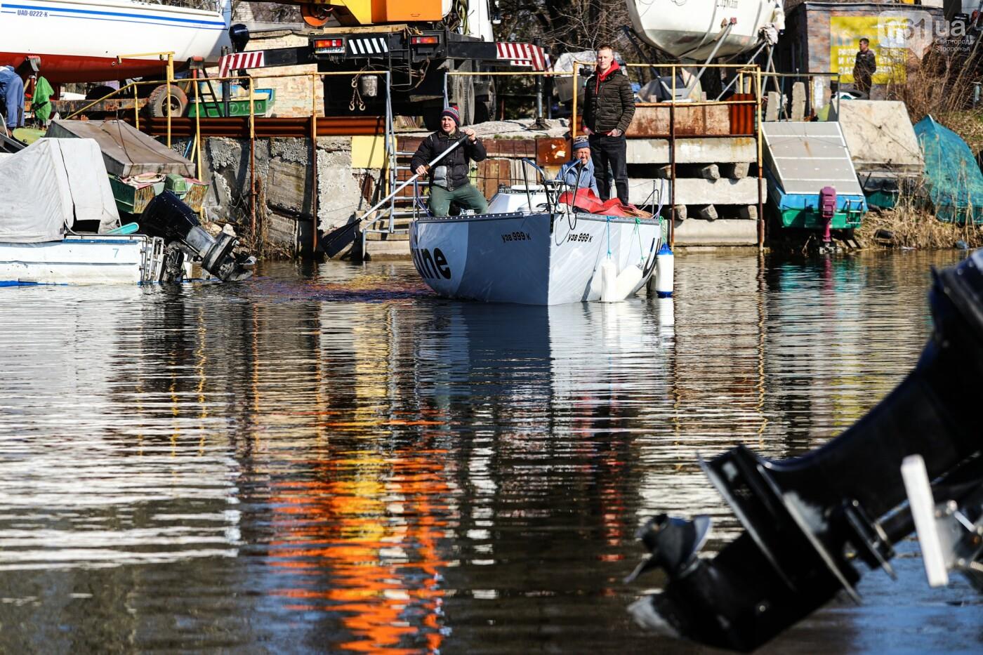 «Семь футов под килем!»: как в запорожском яхт-клубе спускали судна на воду, - ФОТОРЕПОРТАЖ , фото-33