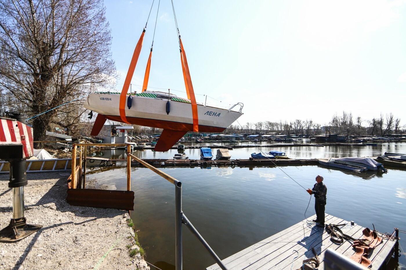 «Семь футов под килем!»: как в запорожском яхт-клубе спускали судна на воду, - ФОТОРЕПОРТАЖ , фото-11
