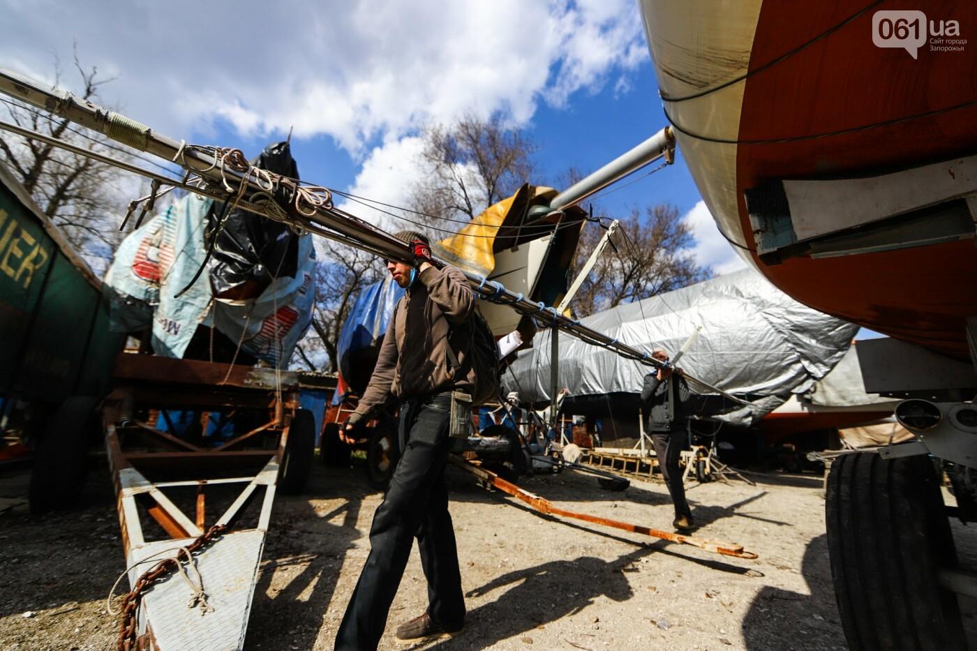 «Семь футов под килем!»: как в запорожском яхт-клубе спускали судна на воду, - ФОТОРЕПОРТАЖ , фото-49