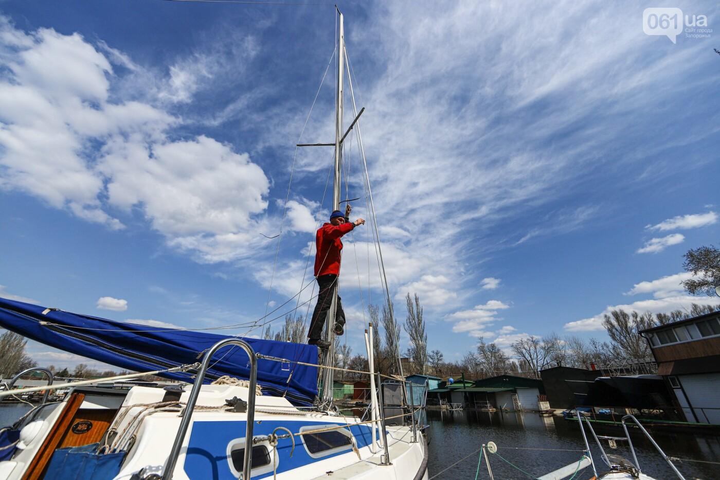 «Семь футов под килем!»: как в запорожском яхт-клубе спускали судна на воду, - ФОТОРЕПОРТАЖ , фото-56
