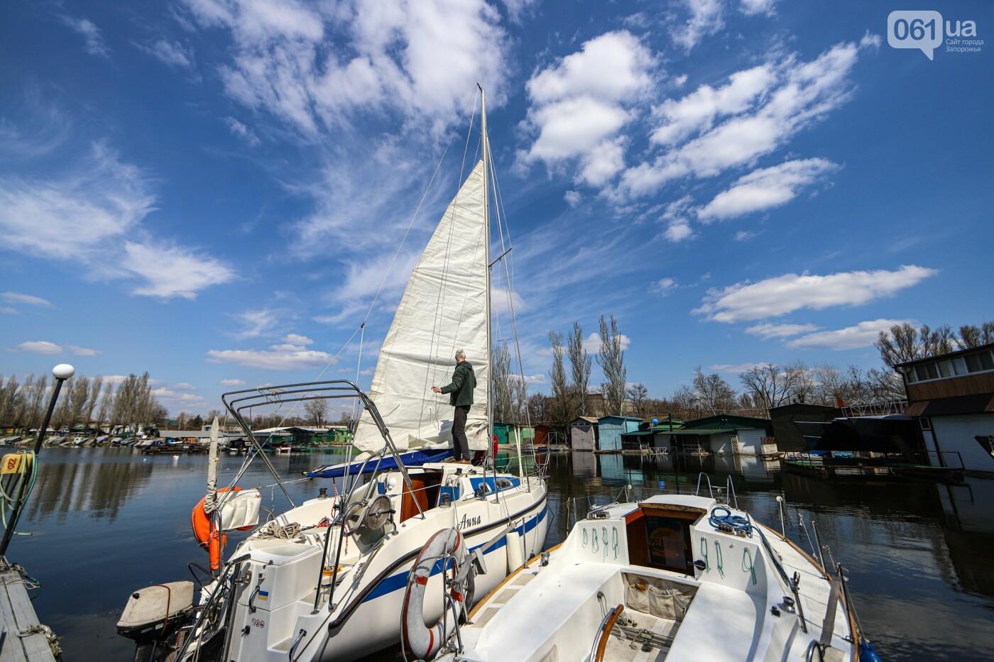«Семь футов под килем!»: как в запорожском яхт-клубе спускали судна на воду, - ФОТОРЕПОРТАЖ , фото-58