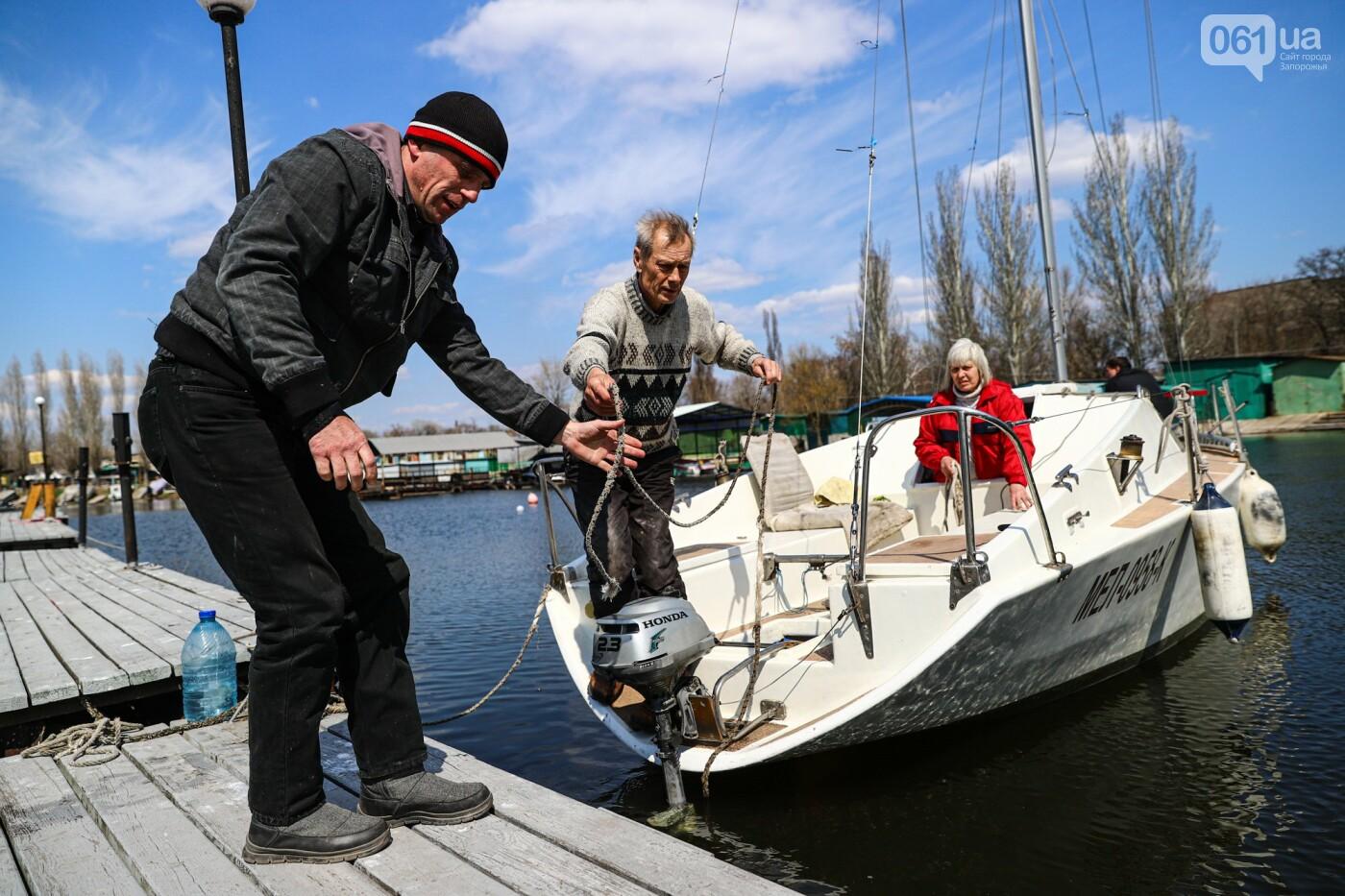 «Семь футов под килем!»: как в запорожском яхт-клубе спускали судна на воду, - ФОТОРЕПОРТАЖ , фото-60
