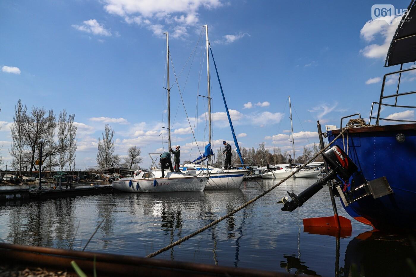 «Семь футов под килем!»: как в запорожском яхт-клубе спускали судна на воду, - ФОТОРЕПОРТАЖ , фото-62