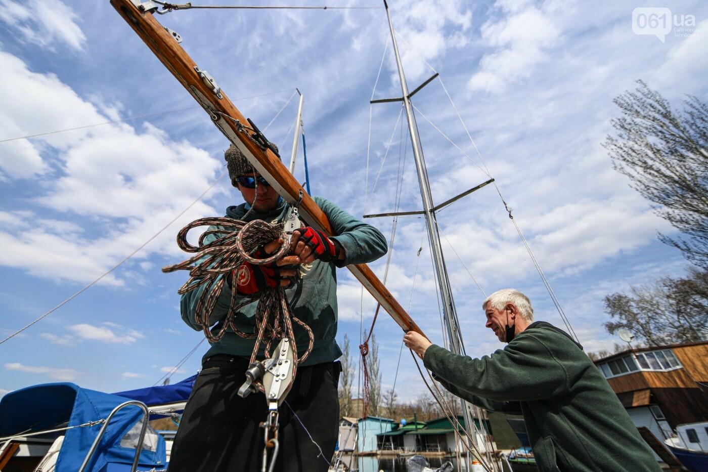 «Семь футов под килем!»: как в запорожском яхт-клубе спускали судна на воду, - ФОТОРЕПОРТАЖ , фото-64