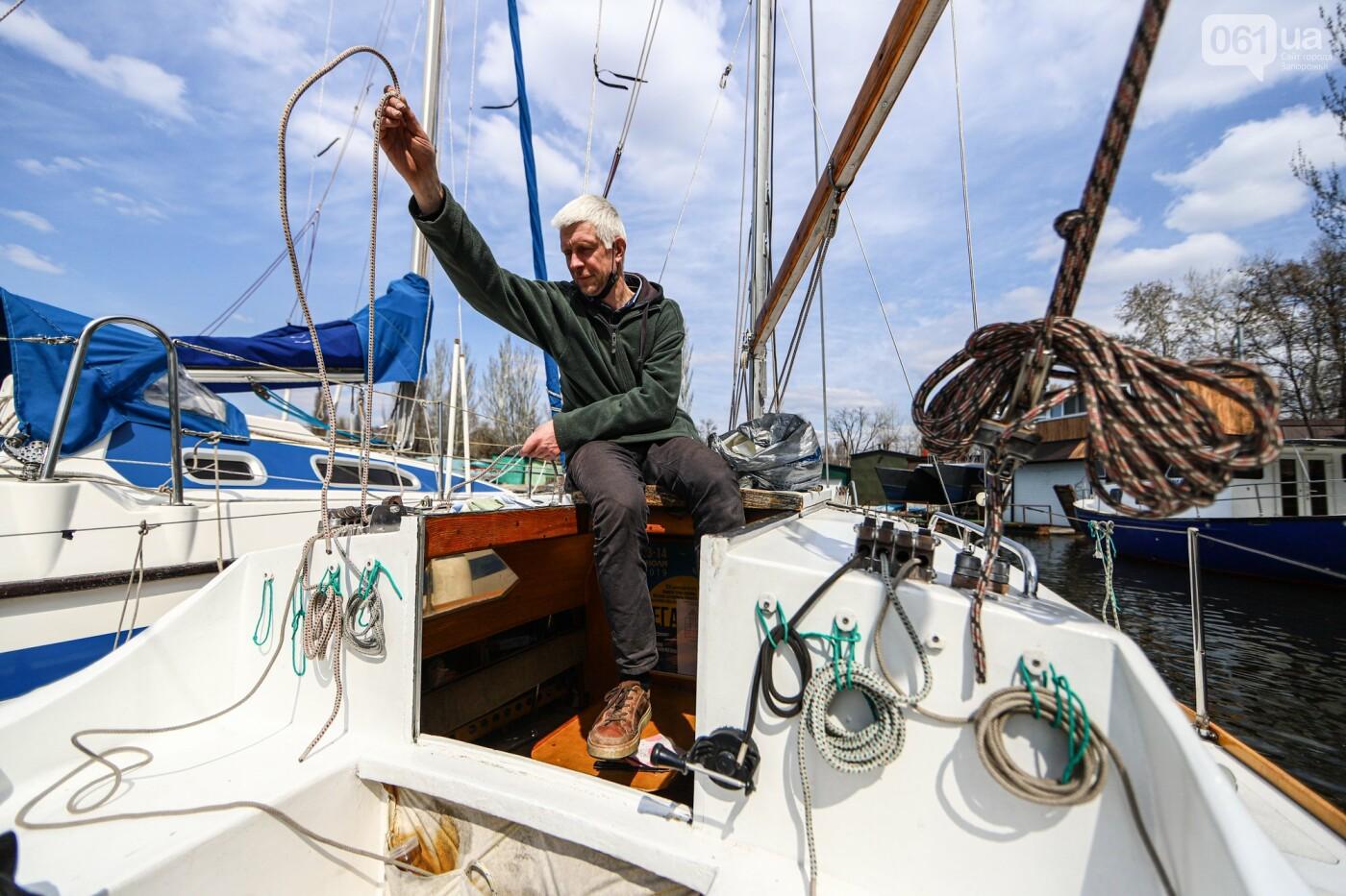 «Семь футов под килем!»: как в запорожском яхт-клубе спускали судна на воду, - ФОТОРЕПОРТАЖ , фото-65