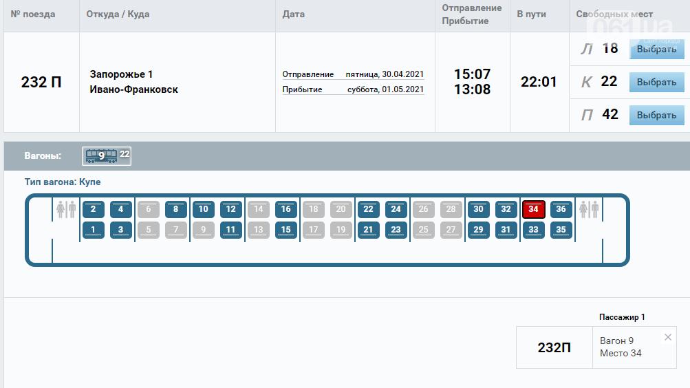 На Пасху и на майские праздники назначили дополнительные поезда из Запорожья на Западную Украину, фото-1