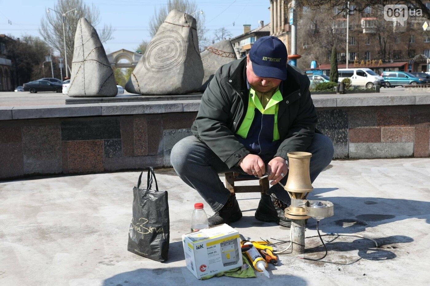 В Запорожье заменили подсветку фонтана на площади Маяковского и готовят его к открытию , фото-2
