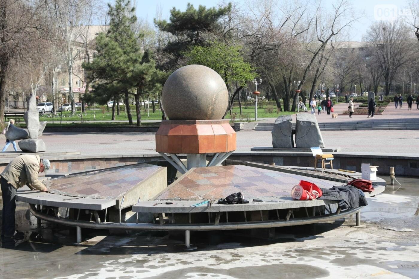 В Запорожье заменили подсветку фонтана на площади Маяковского и готовят его к открытию , фото-5