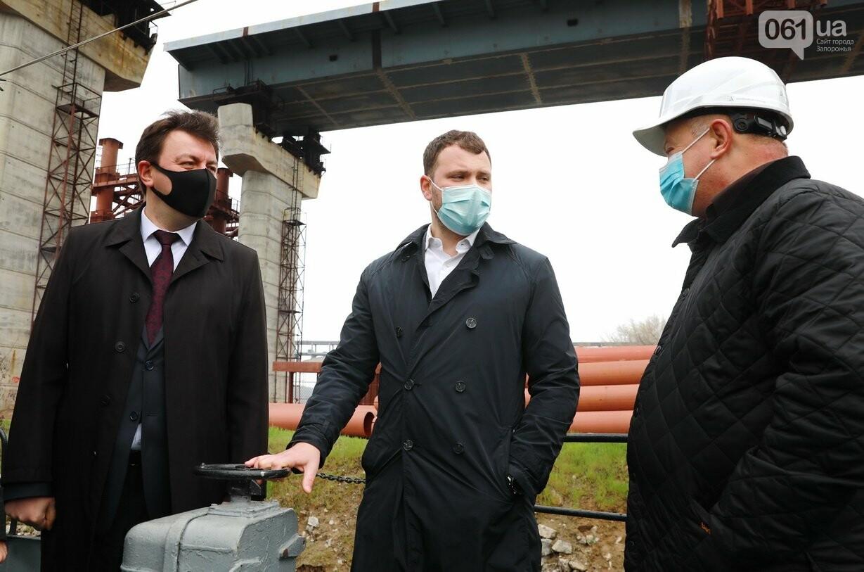 Министр инфраструктуры по дороге в Мариуполь заехал в Запорожье - посмотрел, как строят мосты, - ФОТО , фото-6