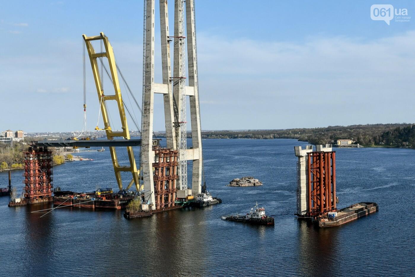 В Запорожье монтируют первый блок вантового моста, - ФОТОРЕПОРТАЖ, фото-15