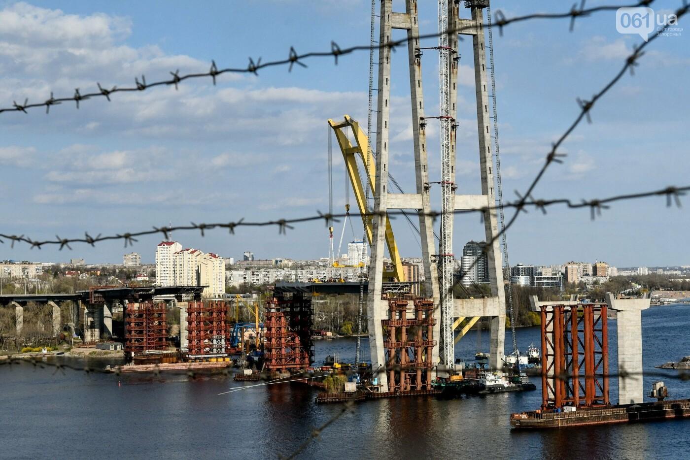 В Запорожье монтируют первый блок вантового моста, - ФОТОРЕПОРТАЖ, фото-13