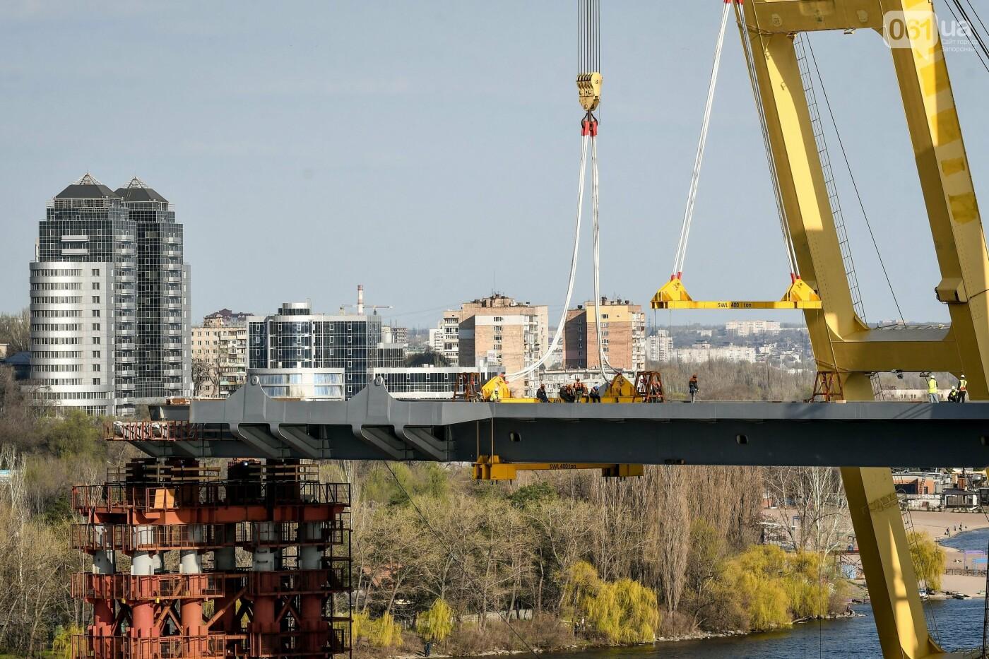 В Запорожье монтируют первый блок вантового моста, - ФОТОРЕПОРТАЖ, фото-17