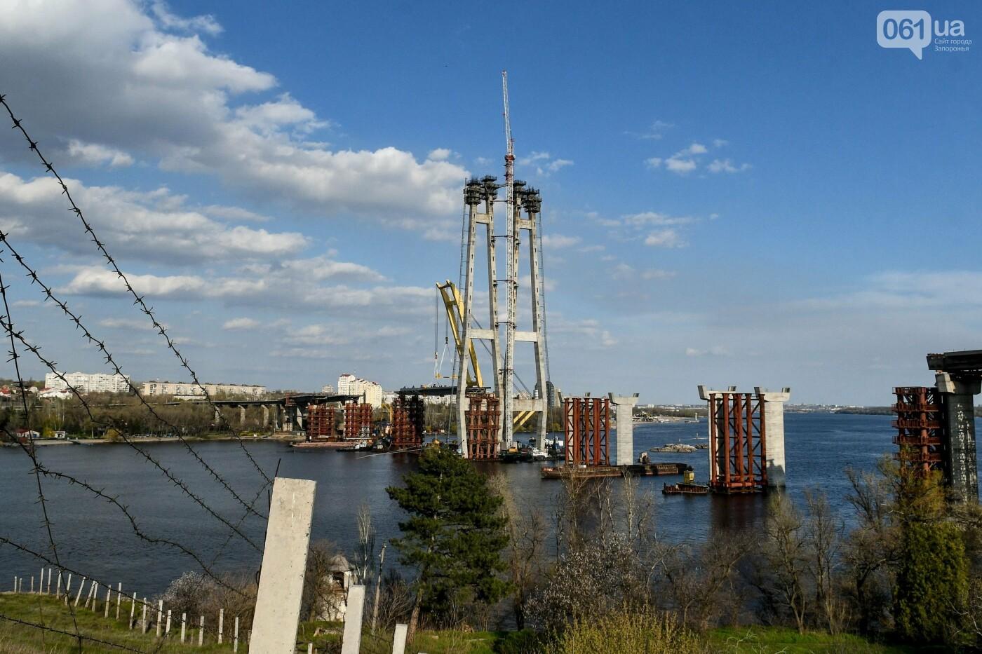 В Запорожье монтируют первый блок вантового моста, - ФОТОРЕПОРТАЖ, фото-12