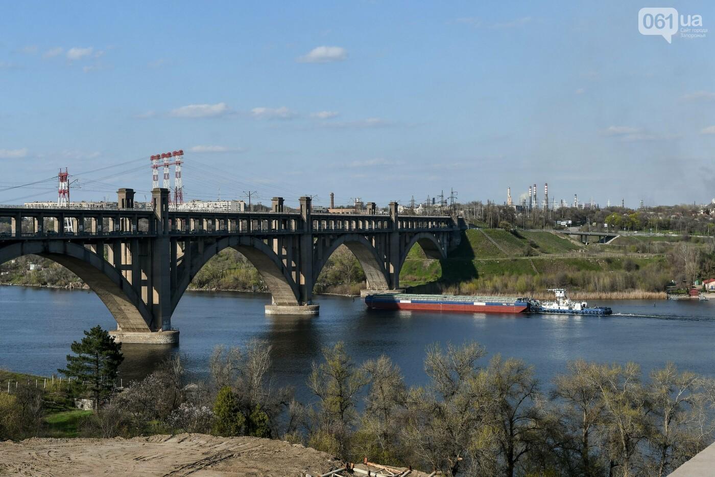 В Запорожье монтируют первый блок вантового моста, - ФОТОРЕПОРТАЖ, фото-20