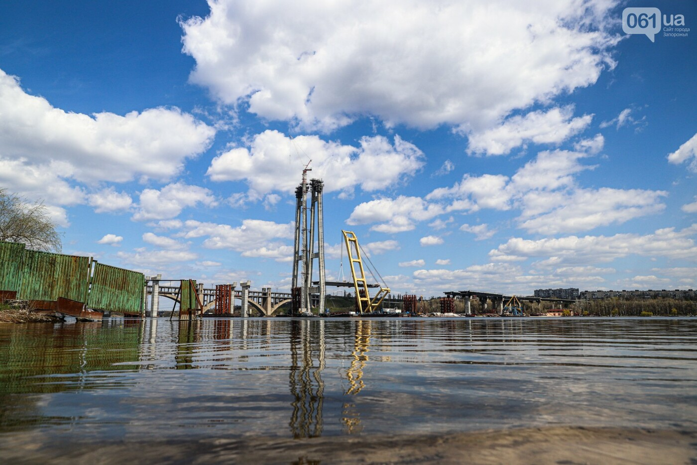 В Запорожье монтируют первый блок вантового моста, - ФОТОРЕПОРТАЖ, фото-2