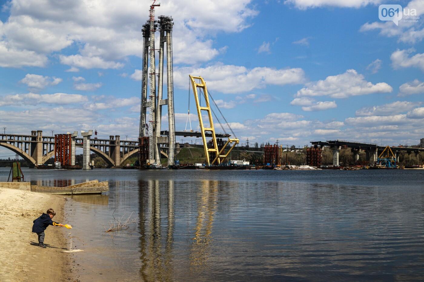 В Запорожье монтируют первый блок вантового моста, - ФОТОРЕПОРТАЖ, фото-4