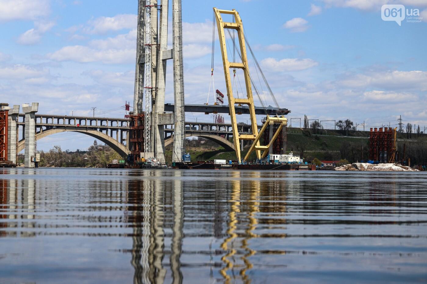 В Запорожье монтируют первый блок вантового моста, - ФОТОРЕПОРТАЖ, фото-3