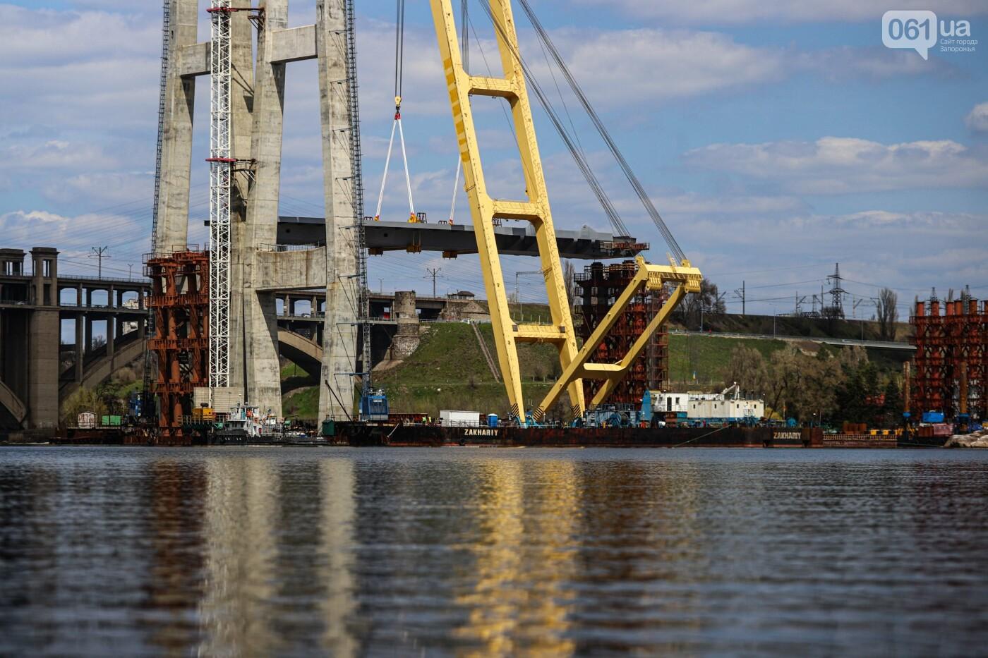 В Запорожье монтируют первый блок вантового моста, - ФОТОРЕПОРТАЖ, фото-8